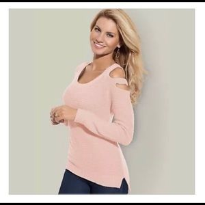 🌺Venus Cut Out Sleeve Baby Pink Sweater! So Cute!